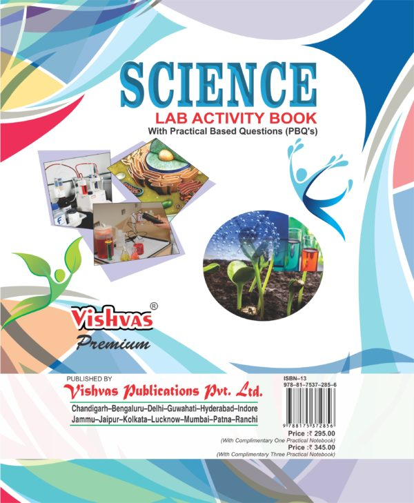 Science Lab Activity Book With Practical Based Questions,Class 10th, With 1 Prac. Notebook,Revised Syllabus 2017-18