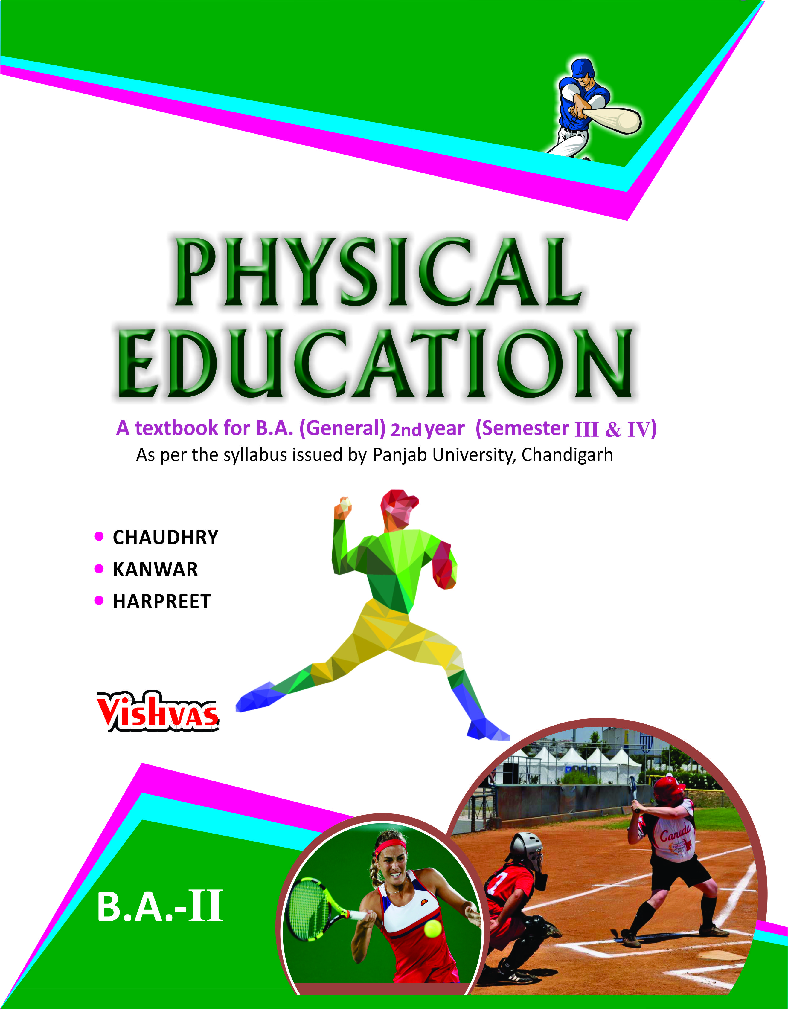 Physical Education Text Book- B A- Gen -Punjab University 2nd Year Sem 3 &  4 English Medium-vishvasbooks