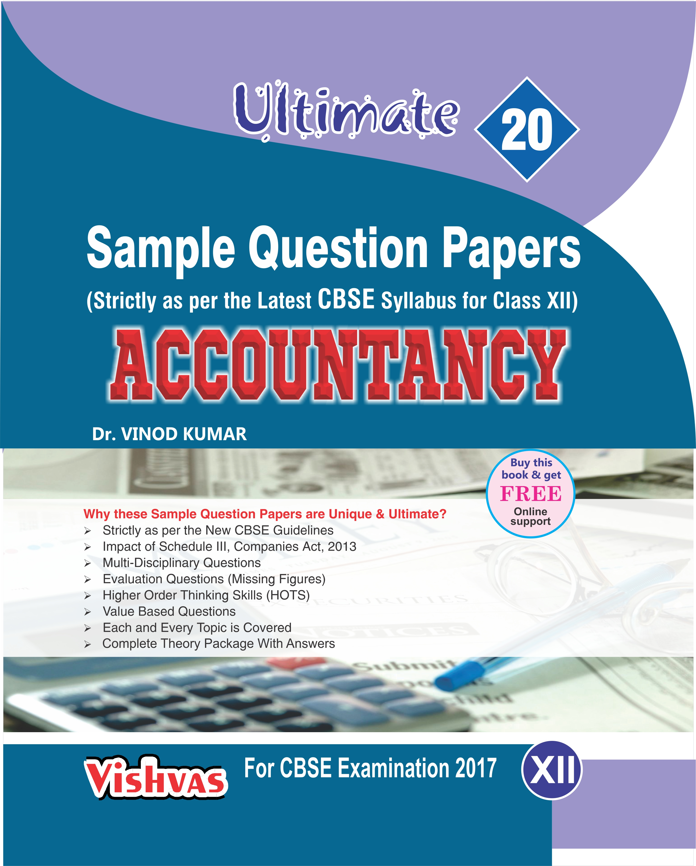 Sample Question Paper Accountancy 10+2 CBSE Examination 2017