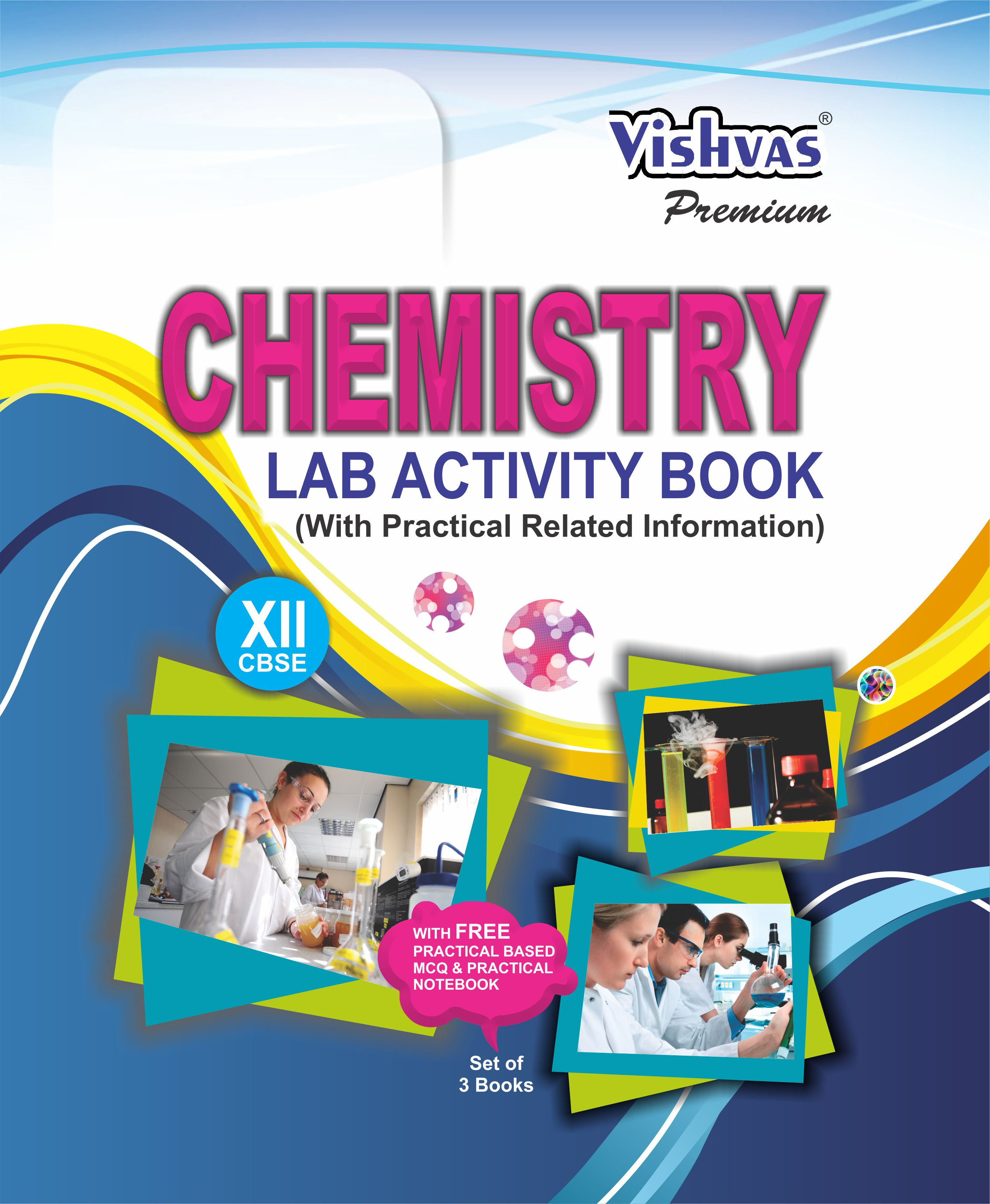 CBSE-2019-Chemistry Lab Activity Book-Class-XII- Free Practical Based MCQ &  Practical Notebook) Paperback, Set Of 3 Books-vishvasbooks