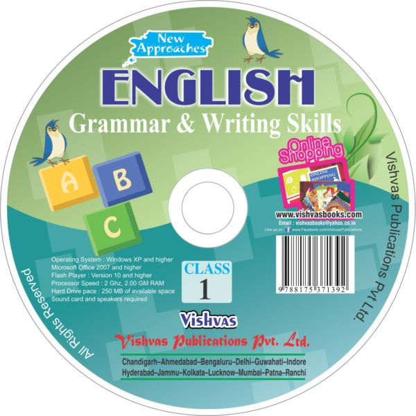 ENGLISH GRAMMAR & WRITING SKILLS Stage-I-CD-vishvasbooks