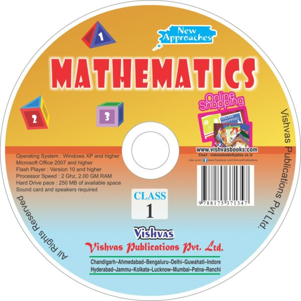 MATHEMATICS TEXT BOOK Class 1-CD-vishvasbooks